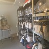 Space Suit storage inside the MDRS. In the back the newest model.
