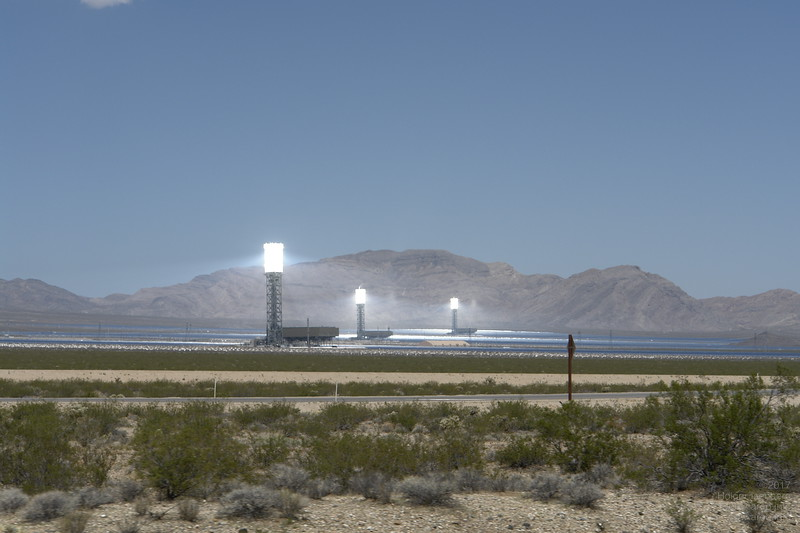 Ivanpah Solar Thermal Electric Power Plant, near Primm south of Las Vegas, NV