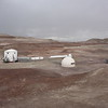 Overview of the MDRS, the new greenhouse attached  to the habitat, on the right: the new telescope and new solar panel