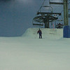 Junior tries out the slopes.