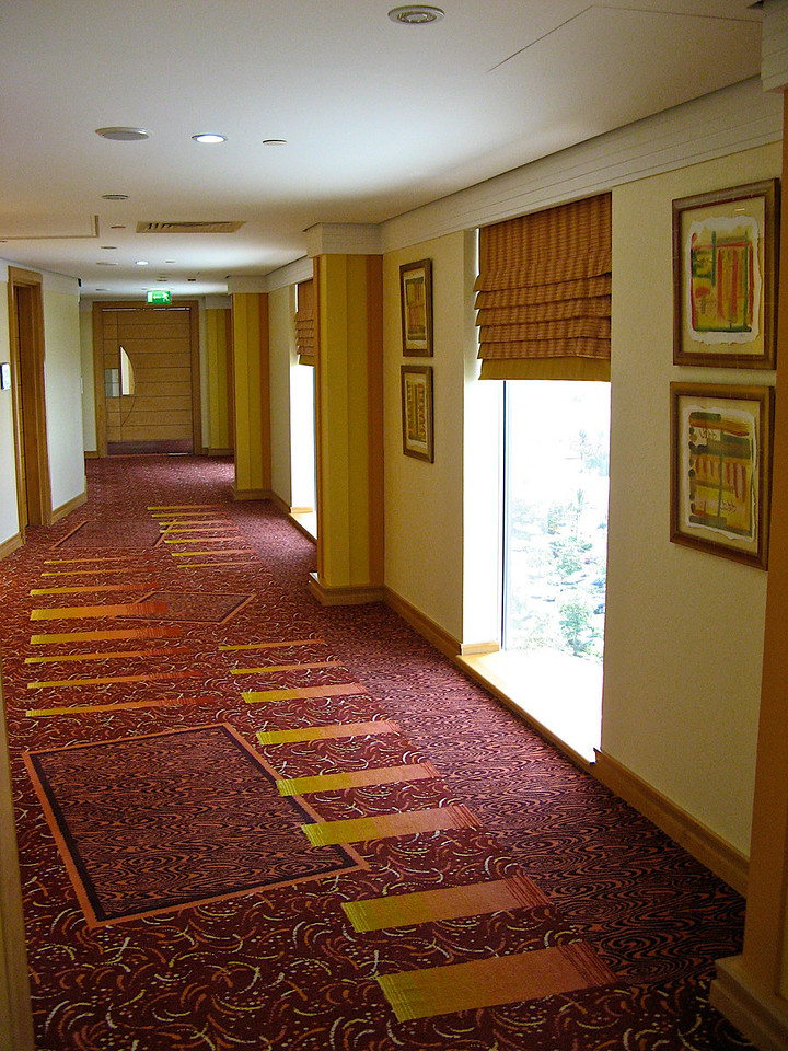 Hallway leading to the rooms.