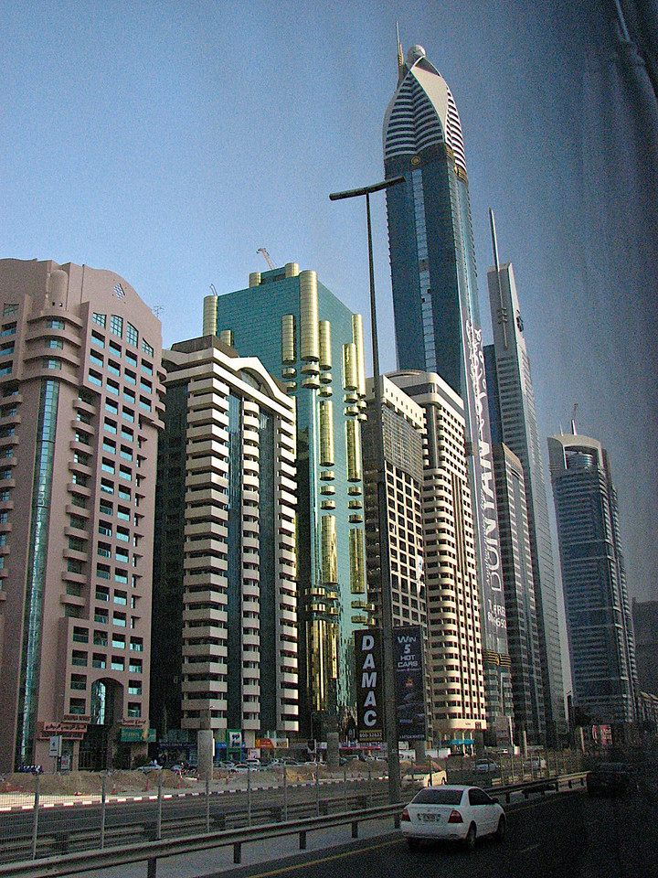 No matter where you look in Dubai, they're building skyscrapers at an amazing rate.