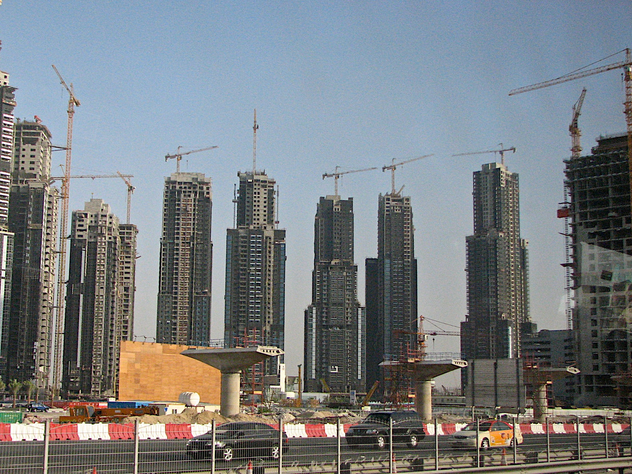 Here's the buildings going up in just one small section of the city.