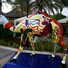 Some cities have cow sculptures, horse sculptures, etc., but in Dubai they have camel sculptures.
