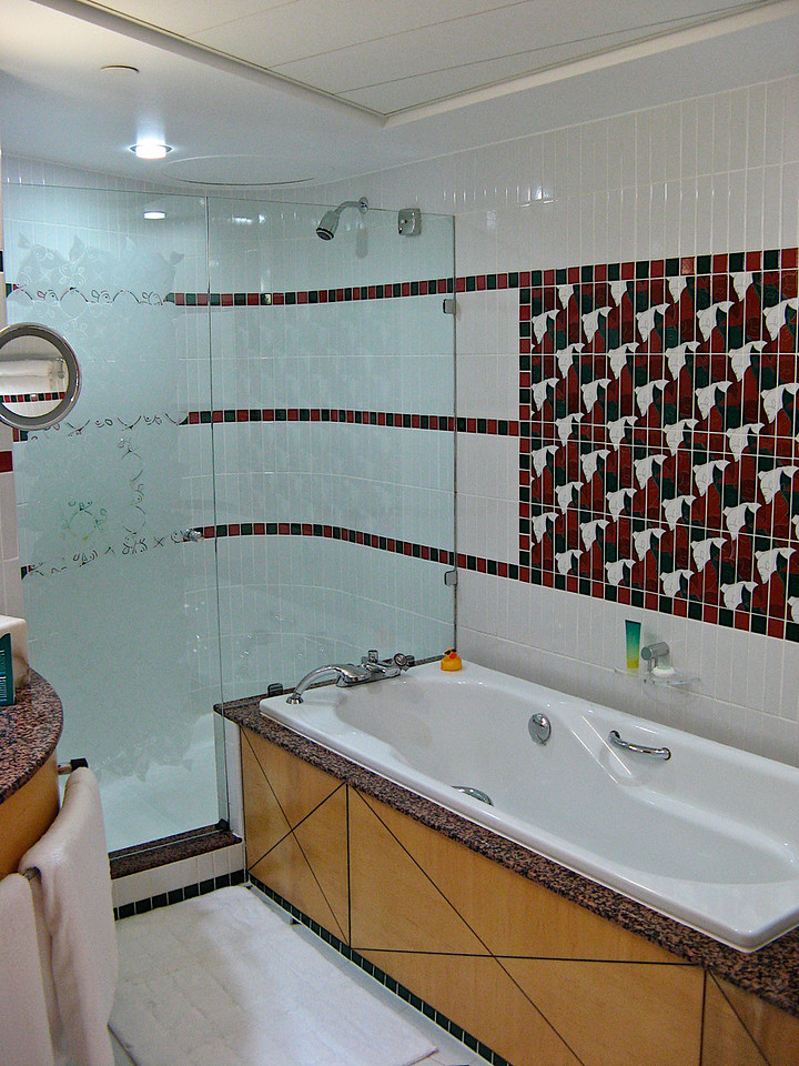 The bathrooms are large with a soaker tub and plenty of space.