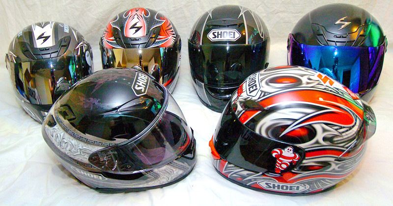 Scorpion Helmets $125.00 each. Shoei Helmets $150.00 - $550.00<br /> <br /> All are like new.
