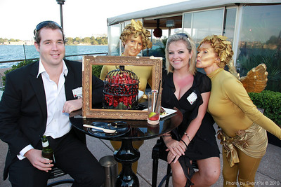 Grant Purcell (Sydney Princess Cruises), Sarah Bush (The Events Authority) with angelic friends