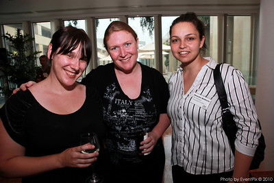 Brooke Crowling and Annette Shaw (Early Childhood Australia) with Natasha Matkiovic (National Convention centre)