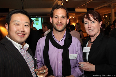 Scott Qin (Sumix), Ian-Michael Farkas (Laissez-faire) and Joanna Cruickshank (NHM Entertainment)
