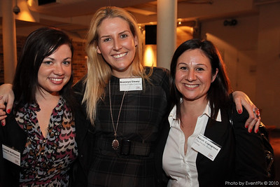 Lynleigh McPherson and Bronwyn Cleary (Belinda Franks Catering) with Sarah Capogreco (Pan Pacific Hotels)