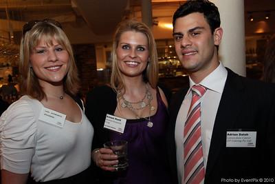 Lisa Schwartz (Bavarian Hospitality Group), Armani Huett (BHG) and Adrian Dalah (Laissez-faire Caterer)
