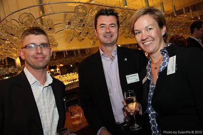 Dominic O'Hearn (Nosh Hospitality), Steve Mackenzie AFMEA (ASP Events) and Susan Twigden (Destination Matters)