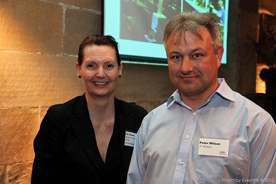 Liz Jones (Bavarian Hospitality Group) and Peter Wilson (AV Rentals)