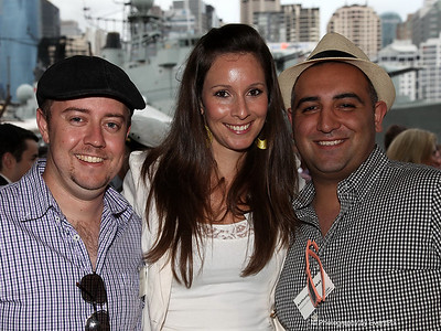 Brad Booth, Amanda Lovett and Anthony Barakat (Moreton Hire)