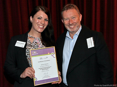 Sabrina Kamann (Business Events Sydney) and David Addison (Avanti Events)