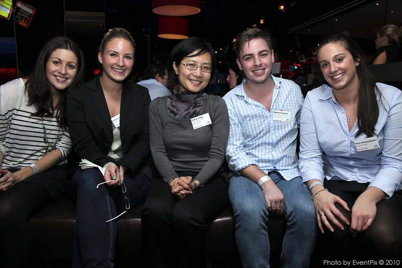 Darjana Suessmann (The Events Authority), Tracy Yang (Hilton Hotels), William Gunner (Aust Soc for HIV Medicine), Amy Girling-Butler (Solution Red)