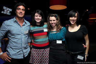 Alejandro Jara (Black & White Waiters), Jessica Tyrrell (Merivale), Camillie Ashmore (vervecreative), Rosie Campo (Aust. Soc. for HIV Medicine)