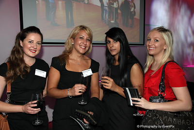 Michelle Bonamy and Rebecca Goodfield (Navarra Venues), Marya Eid and Lauren Hayward (The Forum Group)