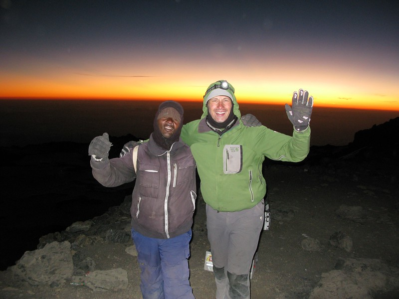 Kilimanjaro summit with guide Ernest