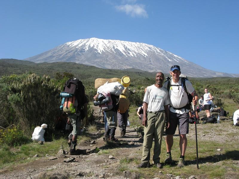 Approach to Kilimanjaro climb