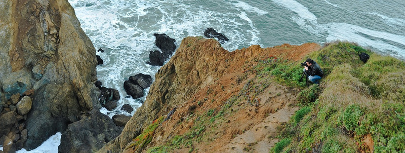 """Shooting waves and surf along the cliffs of Marin Headlands<br /> <br /> Photo by Patrick Boury<br /> <a href=""""http://www.flickr.com/photos/pbo31/"""">http://www.flickr.com/photos/pbo31/</a>"""