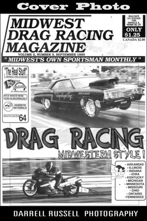 Midwest Drag Racing Magazine  -  Issue Sept. 1990 Vol. 2 No. 3 *** COVER PHOTO- Ray Boys Toy ***