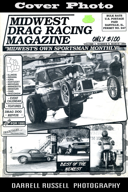 Midwest Drag Racing Magazine  -  Issue March 1990 Vol. 1 No. 9 *** COVER PHOTO- Rat Now Roadster ***