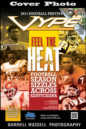VYPE - High School Sports Magazine  -  Issue August 2011 Vol. 4 No. 7 *** COVER PHOTOS ***