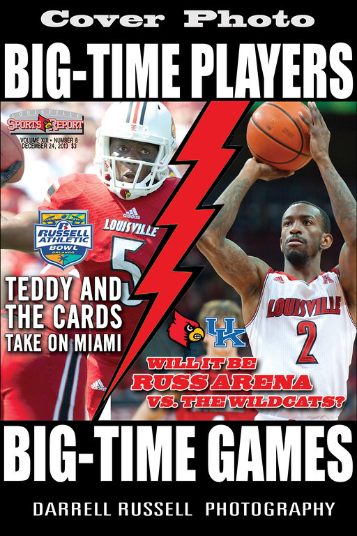 LOUISVILLE SPORTS REPORT VOL XIX - NUMBER 8 DECEMBER 24, 2013  *** COVER PHOTO ***