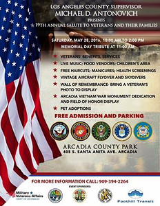 5-28-2016  MEMORIAL DAY - ARCADIA PARK