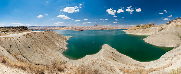 A panorama of Lake Dukan, the largest lake in Iraqi-Kurdistan.