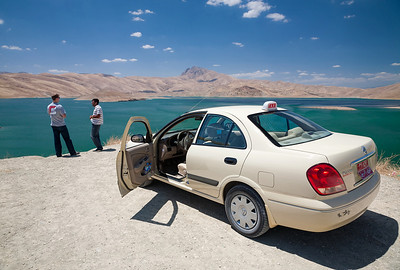 Parked at Lake Dukan, the largest lake in Iraqi-Kurdistan.