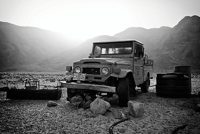 Bedouin jeep in Wadi Rum.