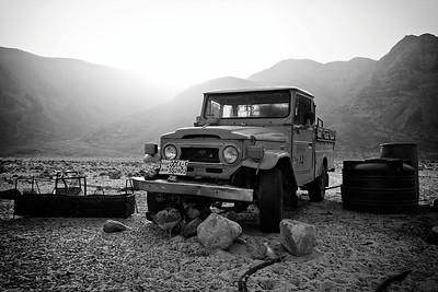 Bedouin jeep in Wadi Rum.