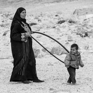 Handi and Rand at play, Wadi Rum.