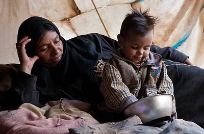 Handi and her child, Rand, Wadi Rum.