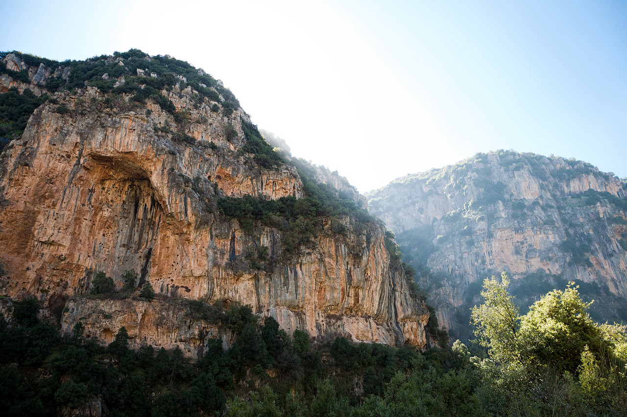 The Qadisha Valley is as majestic a location in Lebanon as you are ever likely to encounter. The Valley features a number of trails which wind through thickly wooded areas, rushing streams, and in between towering rock cliffs painted in a certain red that suggests the American southwest and California.