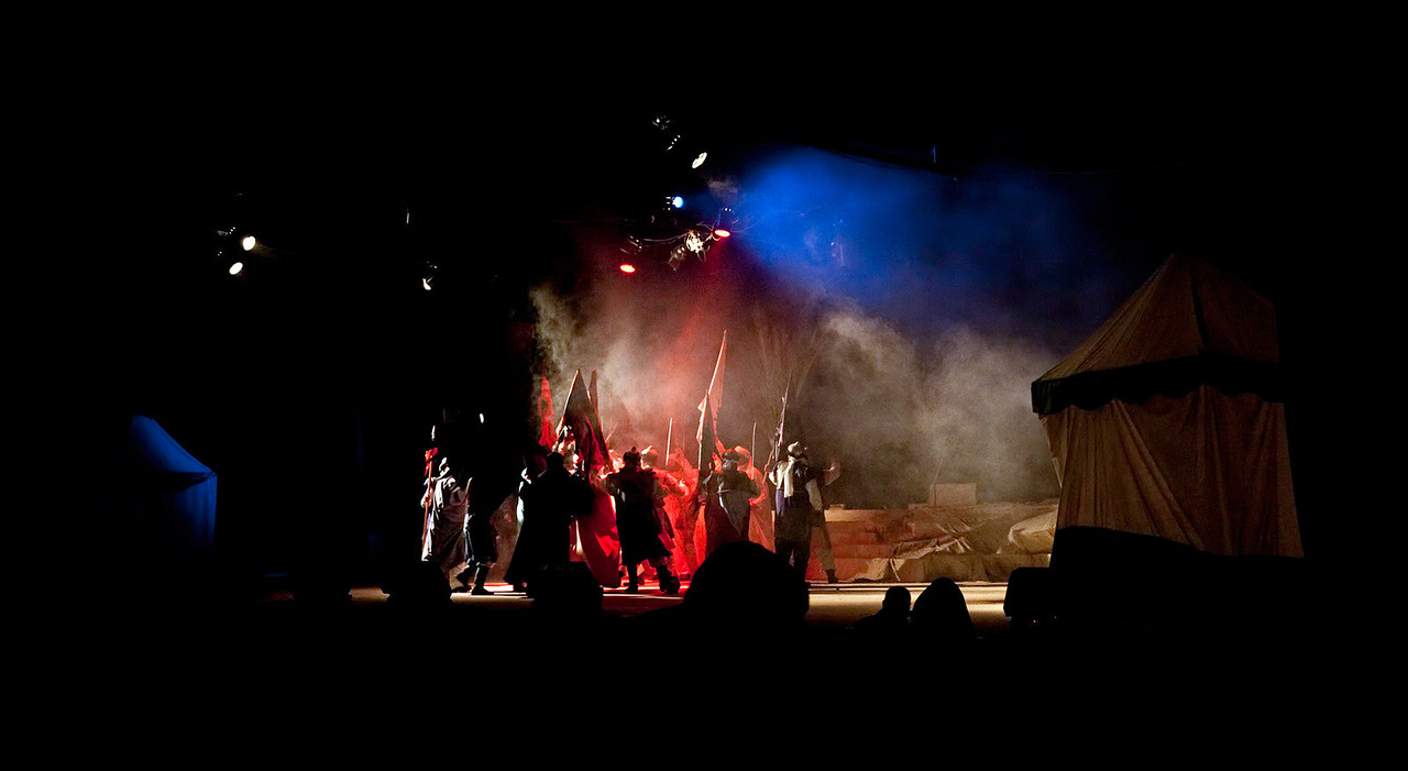 The mourning in Nabatea featured a type of Passion play which presented the events leading up to and including the death of Hussein. As per Islamic custom, the actor who played the character of Hussein never actually showed his face (which was cleverly obscured by spotlights)  and so the Imam's companions became the principle characters.