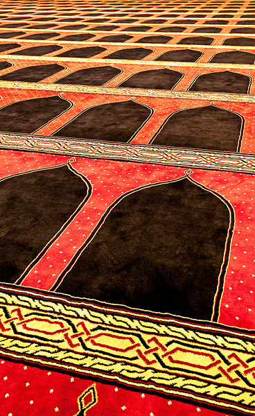 Mosque carpet detail, Mohammad Al-Amin Mosque.