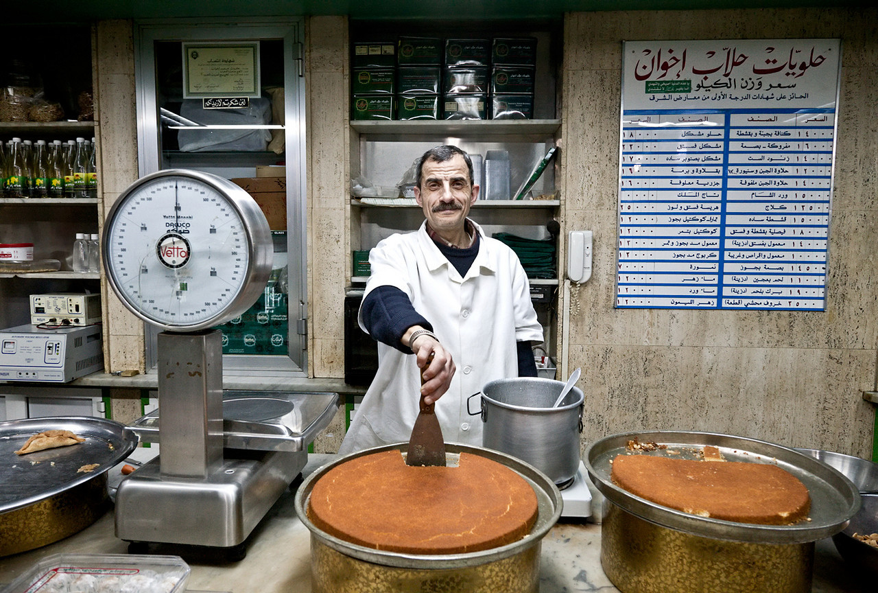 In addition to its rich history, the city is known for its sweets. Here, the Halab Brothers Sweet Shop.