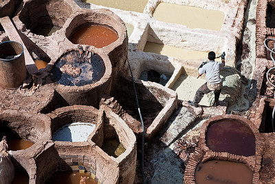 The dabbaghat tanneries in Fes.
