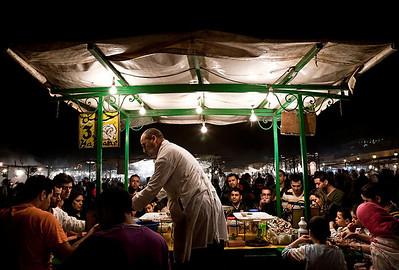 The Jamaa el Fna Market in Marrakesh.