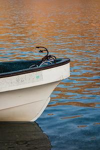 A boat at Qantab beach, Muscat.