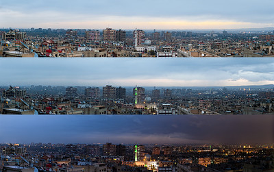 The Damascus skyline as seen from Rukn Eddin.