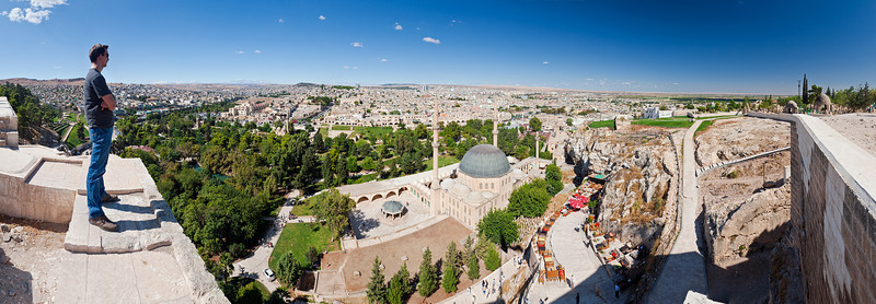 Looking out onto Urfa in Southern Turkey from its Citadel.
