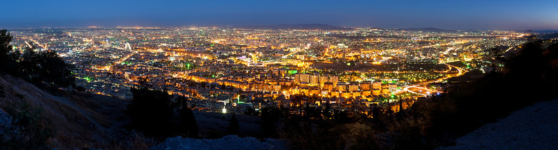 Damascus as seen from atop Jabal Qasyoun Mountain.
