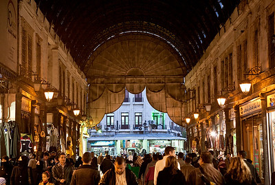 The busy Hamadia Souq, Damascus' iconic covered market.