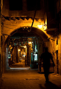 One of the Old City's narrow streets.