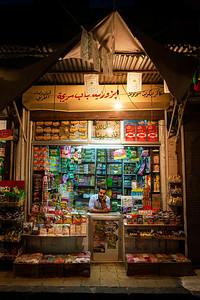 A shopkeeper in the Bab Al-Sirija Market, Damascus, Syria, 2008