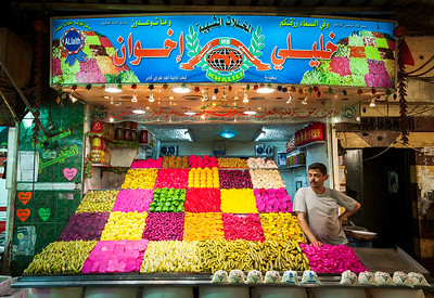 Pickles and Peppers at the Khaleeli Brother's shop in Souq Bab As-Srijai.